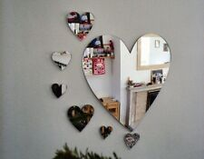 Large Heart, Dolphin, Butterfly or Star Bath Bathroom Wall Mirror Accessories