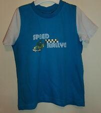 Türkis/blau Shirt Kurzarm mit weißem Ärmeln und Druckmotiv Gr. 98/104 Impidimpi