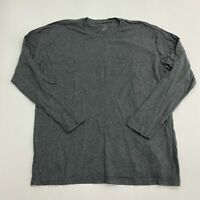 Stafford Tailored Culture T Shirt Men's Size XXL 2XL Long Sleeve Gray Casual