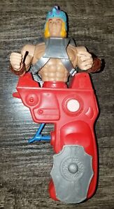 Gun Man Magnon Figure Galaxy Warriors Red Squirt Gun Chicos Spain MOTU KO