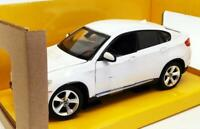 BMW X6 1:24 Scale Diecast Metal Toy Car Model Miniature White