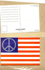 Usa Peace Flag - Postcards - Pack Of 2 - Collector'S - Licensed New
