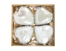 Set of 4 Heart Stepping Stones Garden Ornament