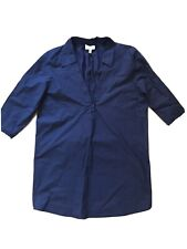 2Love Tony Cohen V-neck Shirt Blouse Navy Blue 3/4 Sleeves Size S