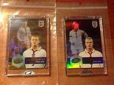 David Beckham & Wayne Rooney 2004 eTopps England Refractor Soccer Cards Sealed