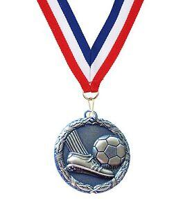 Football Laurel 50mm Medal (Gold, Silver, Bronze) & Ribbon + FREE Engraving