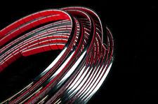 10 Metri Cromo Auto Styling stampaggio STRISCIA TRIM ADESIVO 9MM di larghezza x 3mm di profondità