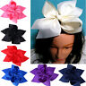 10 Inch Boutique Grosgrain Ribbon Knot BowKnot Hair Bow Alligator Clip For Girl