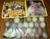 Vintage JABO VITRO Marbles Sealed Package Bag of PEEWEES