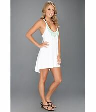 Hurley White Stagger Coverup Junior Dress Sz S NWT