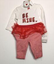 Carters Baby Girl Be Mine Valentine Heart Bodysuit Tutu Legging Set Newborn