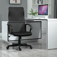 Executive High Mesh Back Office Chair With Fixed Armrests Adjustable Height