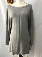 CYRUS Woman Pullover Gray Tunic 3/4 Sleeve Sweater Size 3X NWT