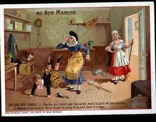 IMAGE AU BON MARCHE / GRANDE CHROMO / BIBLIOTHEQUE ROSE ,ENFANT BON PETIT DIABLE