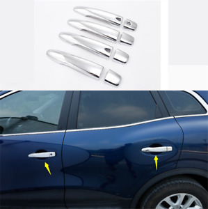 For Renault Kadjar 16-19 ddu  4PC Chrome Door Handle Cover Trim Modified Frame