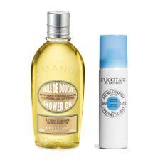 L'Occitane Almond Shower Oil 250ml & Shea Face Mist 50ml Natural Smooth FreePost