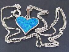 Echte Edelstein-Halsketten & -Anhänger aus Sterlingsilber mit Opal für Damen