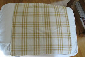"Ralph Lauren Gold Plaid  22"" Square Cushion Covers. NWT. Excellent ."