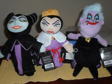 Disney Villians Plush Doll Set - Maleficent, Evil Queen, Ursula