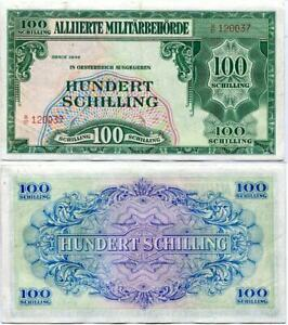 AUSTRIA 100 SHILLINGS ALLIIERTE 1944 P 110 VF NR