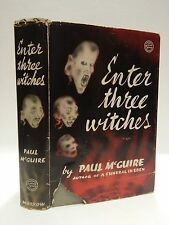vintage Morrow Mystery ENTER THREE WITCHES Paul McGuire 1940 hb/dj