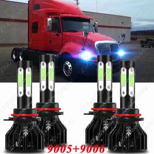 For International Prostar 2008-2015 8000K LED Headlight Bulb High&Low Beam Combo