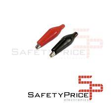 10x Pinzas cocodrilo rojo negro soldables electronica 35mm SP