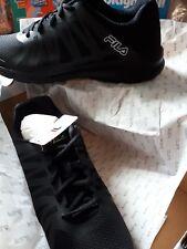 fila flinton black trainers