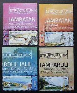 *FREE SHIP Malaysia Unique Structure 2018 Bridge Tourism (stamp margin) MNH