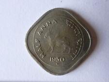 1/2 ANNA COIN,INDIA,1950