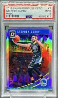 Stephen Curry 2018-19 Donruss Optic Holo PSA 9 MINT GOLDEN STATE WARRIORS 📈