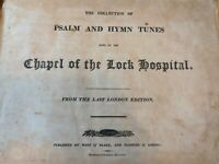 1809 Boston Chapel Lock Hospital Psalm & Hymn Music Book Rare American