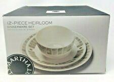 Martha Stewart Collection Heirloom 12-Pc. Dinnerware Set in Gray