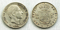 ALFONSO XII 20 CENTAVOS DE PESO 1884 MANILA VF/MBC SILVER/PLATA 5 g. ESCASA