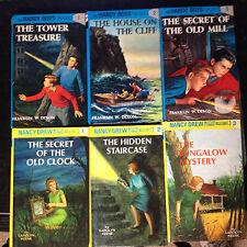 LOT of 6 FLASHLIGHT HARDCOVER books NANCY DREW, HARDY BOYS STARTER SET