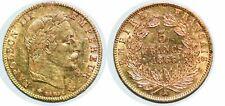 Pièce d'or 5 Francs Napoléon III 1866 A
