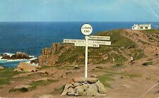 postcard Cornwall Lands End un  posted  salmon