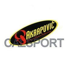 AKRAPOVIC 204x60 HEAT PROOF RESISTANT OVAL EXHAUST STICKER DECAL