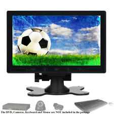 "10"" Zoll LCD Monitor HD CCTV PC Bildschirm 1024*600 AV/VGA/HDMI Eingang  Speaker"