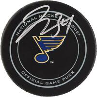 Jake Allen St. Louis Blues Autographed Official Game Puck - Fanatics