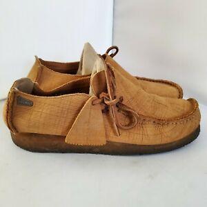 Clarks Lugger UK 6 Mens US 7 Womens US 8 Brown Moccasin Macara Crepe Sole Shoes