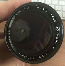 MINOLTA AUTO TELE ROKKOR-PF 135mm f2.8 Camera Lens- excellent!