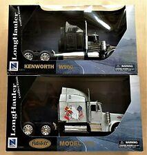 TWO NEWRAY 1:32 TRUCK MODELS PETERBILT 379 & KENWORTH W900 LONGHAULER  ~ %NRT