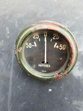 """Vintage 2"""" Amperes Car Automobile Gauge ~ Rat Rod / Amp Meter 22747"""
