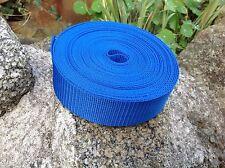 38mm cinta de nylon de las correas Azul Real, con textura X 10 metros