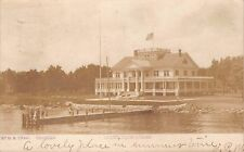 OSHKOSH WISCONSIN YACHT CLUB HOUS~D B CRAW~REAL PHOTO POSTCARD 1907