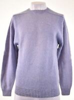 KAPPA Mens Crew Neck Jumper Sweater Large Purple Wool Vintage NN19