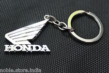 Honda Bike Heavy Chrome Metal Keychain Activa Aviator Shine Unicorn Dio Yuga