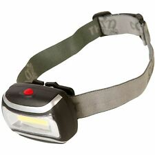 Silverline 3W COB LED Headlamp 100m Illumination Light Safety Strobe Cycling