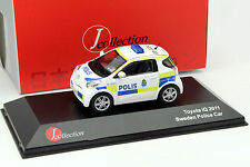 Toyota IQ Polizei Schweden Baujahr 2011 weiß / gelb / blau 1:43 JCollection